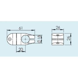 FLRX 18 X  cross connector / перекрестный соединитель