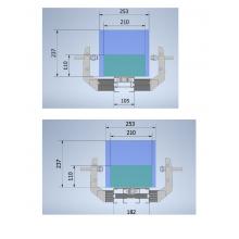 Пример боковых направляющих для коробок двух типов на базе конвейера UNIFLEX FH-105 и FB-175