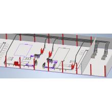 Проект конвейерной системы для упаковки мороженого на базе FB-175